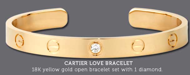 Cartier love bracelets 18K yellow gold bracelet