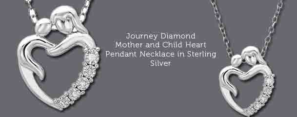 Mother and child heart pendant necklace in sterling silver journey diamond mother and child heart necklace shop pendants aloadofball Choice Image