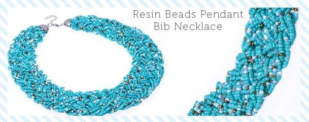 Fashion Olivary Colorful Pendant Bib Necklace