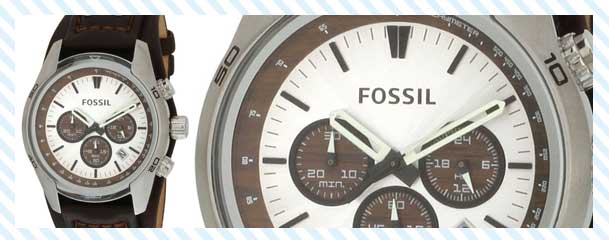 Fossil Men's Cuff Chronograph Tan Leather Watch