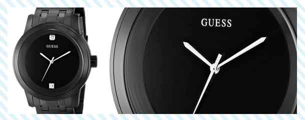 GUESS Men's Self Assured Round Diamond Accent Watch
