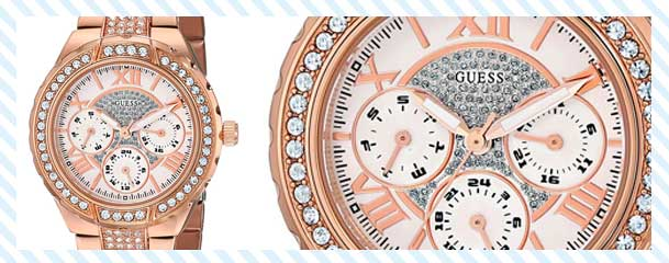 Guess rose tone gold watch
