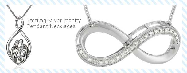 Sterling Silver Infinity Pendant Necklaces