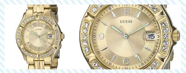 Guess gold watches for women