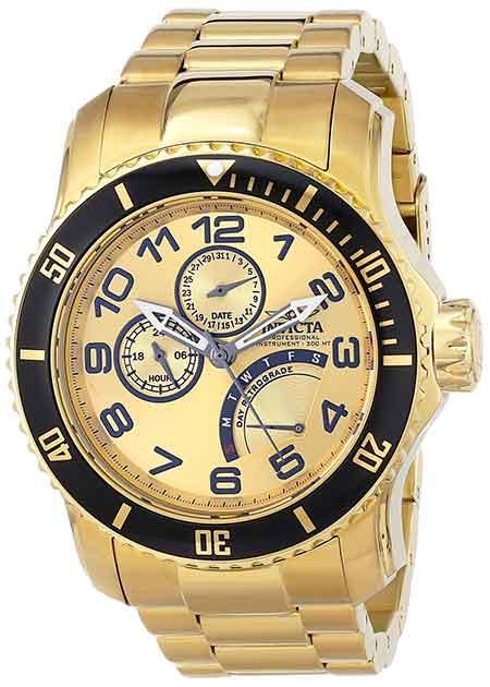 invicta mens pro diver gold watch