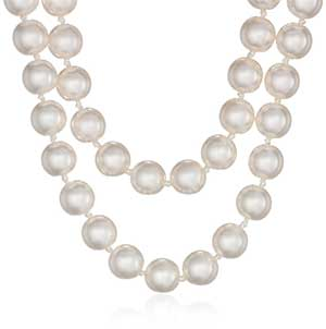 Simulated Pearl Strand Necklace