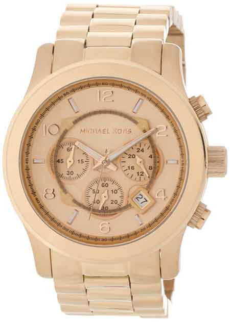 michael kors runway watch rose gold