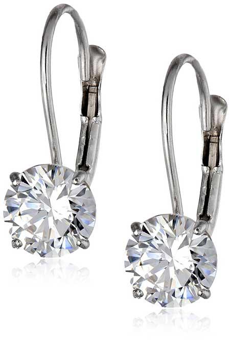 Leverback Diamond E arrings
