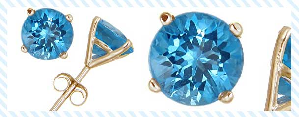 14K Gold Blue Topaz Stud Earrings Review