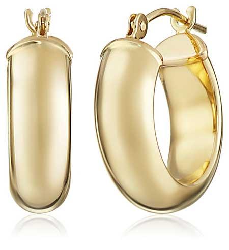 Duragold 14K Yellow Gold Hoop Earrings