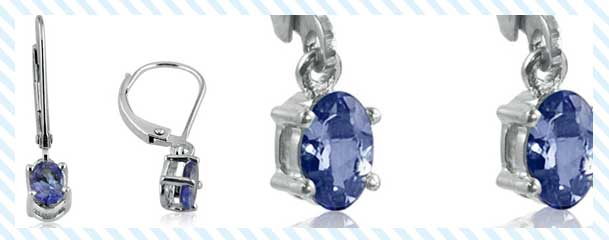 Genuine tanzanite earrings