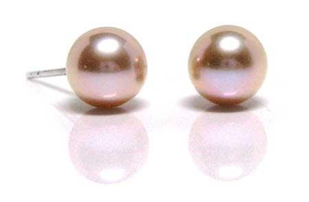 HinsonGayle Pink Pearl Stud Earrings