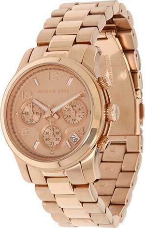 Michael Kors Quartz Rosegold Round Dial Rosegold Band Women's Watch