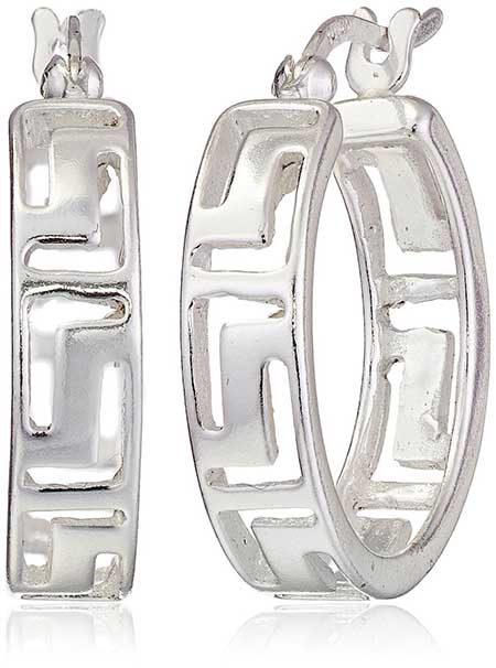 Sterling Silver Greek Key Hoop Earrings Review