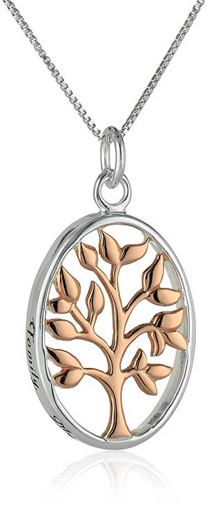 Sterling Silver Two-Tone Pendant Necklace