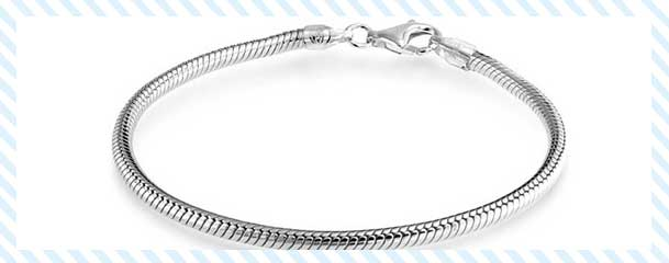 silver snake bracelet