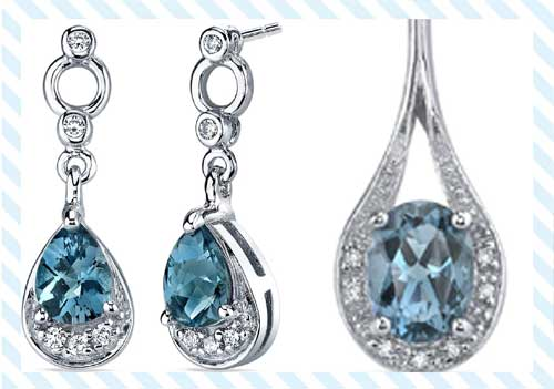 London Blue Topaz Dangle Earrings