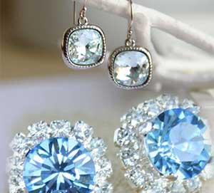 Aquamarine earrings for women