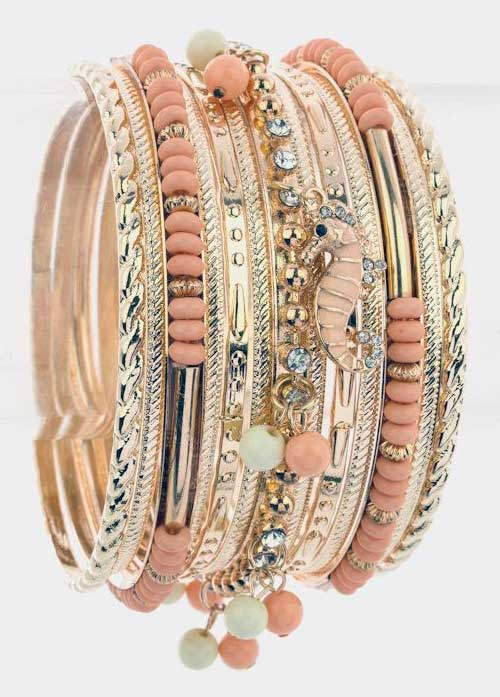 Gold Bangle Bracelets tweeter