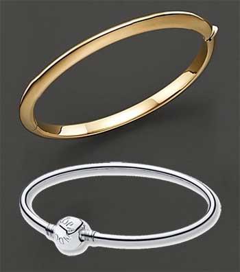 Bangle Bracelets: Gold & Silver Bangle Bracelets