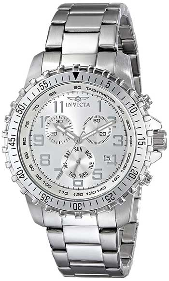 Invicta Men's Collection Chronograph Stainless Steel Silver Watch