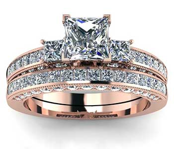Round, Princess and Emerald Cut Ring