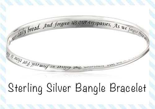 Sterling Silver Prayer Bracelet