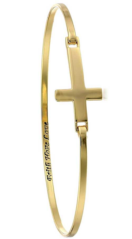 Faith Hope Love Bangle Bracelet