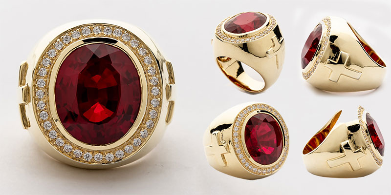 Ruby Bishop Ring