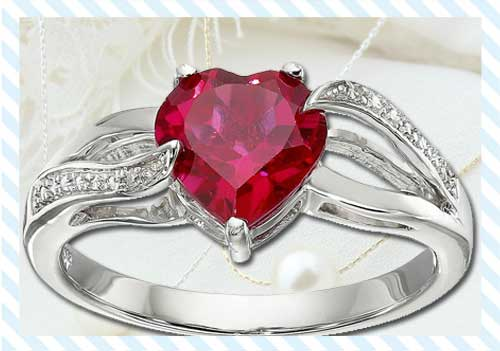 Ruby Heart Ring Or Diamond Ring?