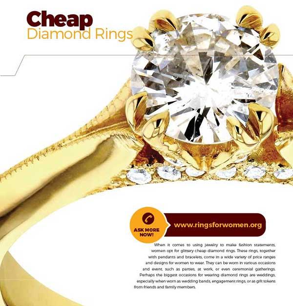 cheap diamond rings for women
