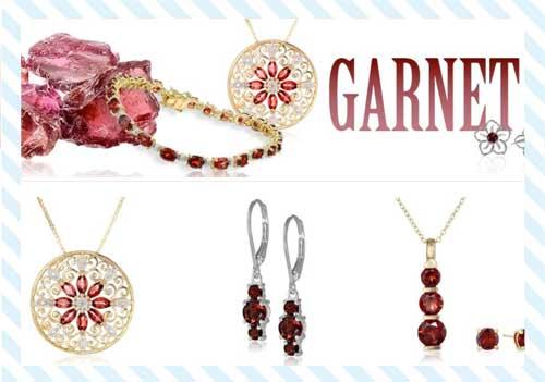 Garnet promise rings from Amazon