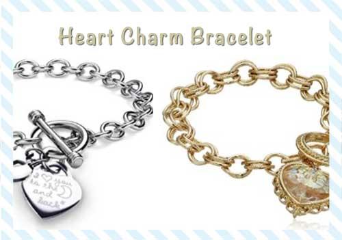 heart charm bracelet