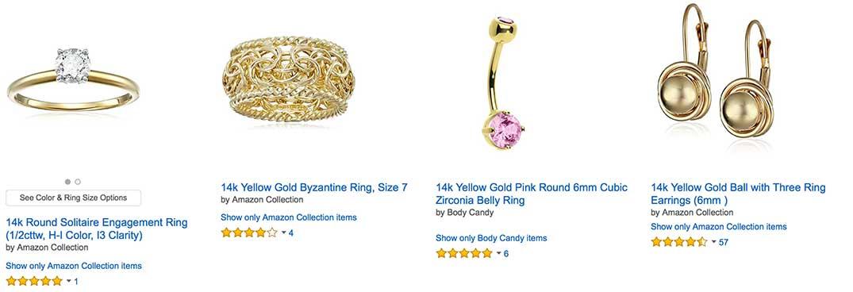14K Yellow Gold Rings