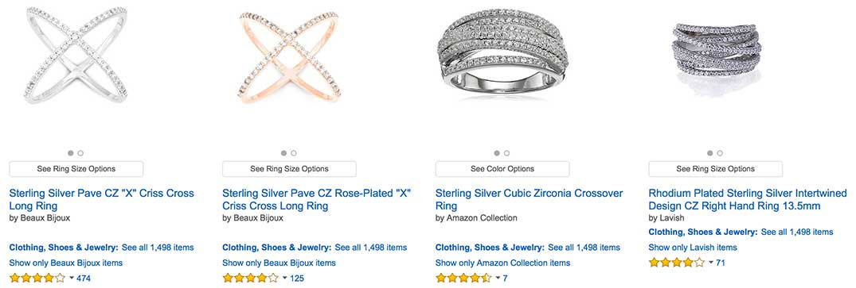 Sterling Silver Diamond Crisscross Ring