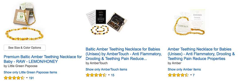 raw unpolished baltic amber teething necklace