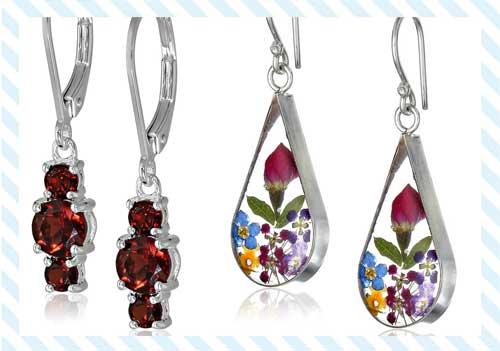silver earrings for women
