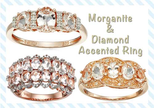 Morganite And Diamond-Accented Ring