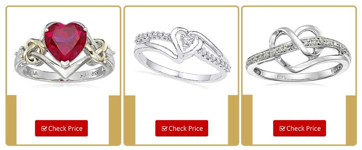 Diamond Heart Rings