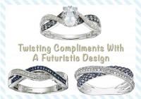 Blue And White Diamond Twist Ring