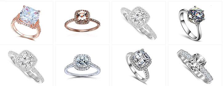 Cushion Cut Diamond Rings