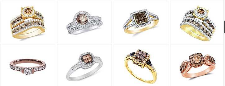 chocolate diamonds engagement rings
