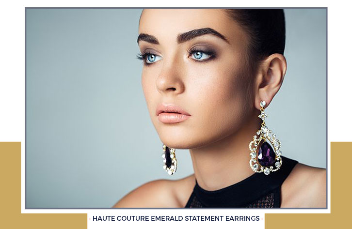 Amethyst Statement Earrings