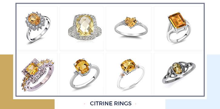 Citrine Rings