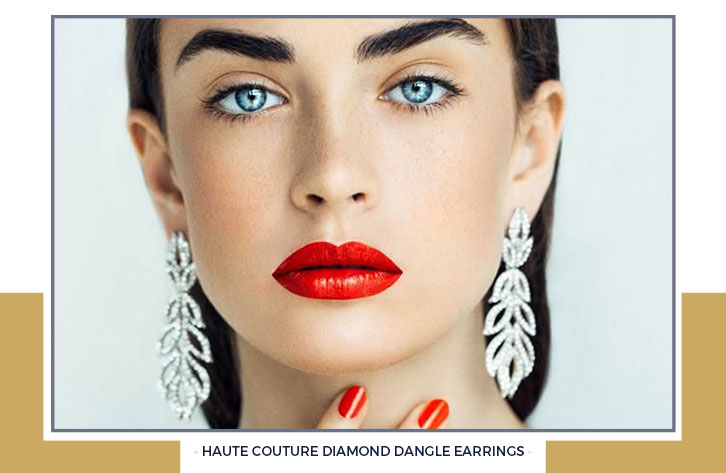 Haute Couture Diamond Dangle Earrings