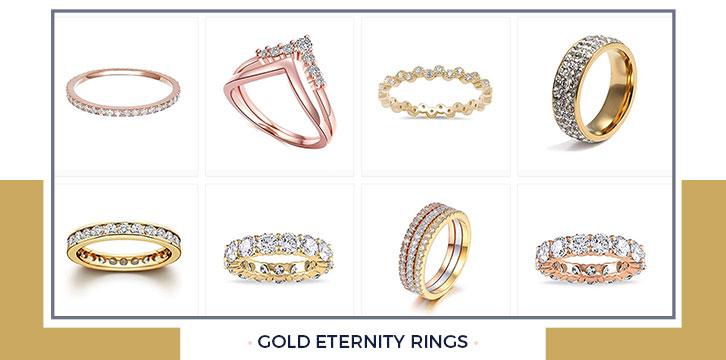 Gold Eternity Rings