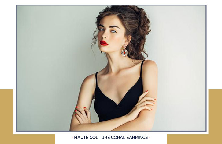 Haute Couture Coral Earrings