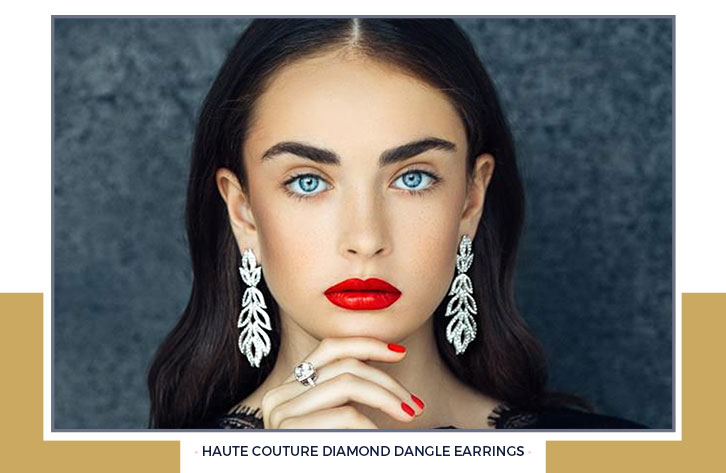 Haute Couture Diamond Dangle Earrings