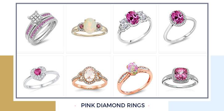 Pink Diamond Engagement Rings