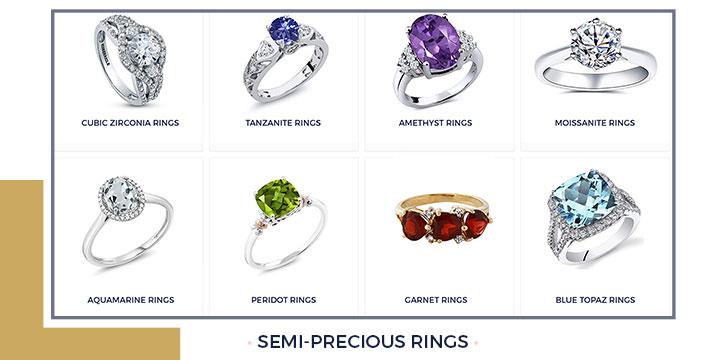 Semi-Precious Rings